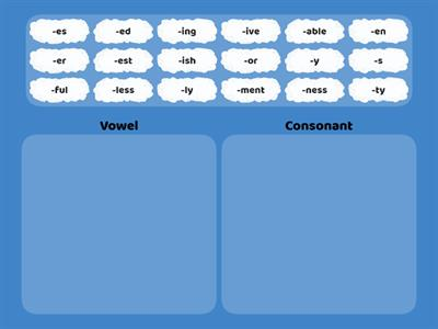 Vowel vs Consonant Suffix Sort