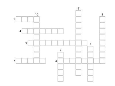 Food History Crossword