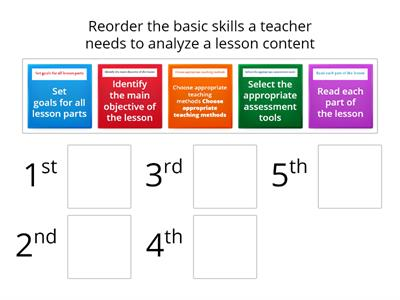 Teacher Content Analysis Skills