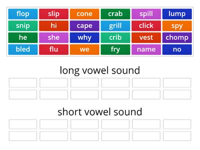 5.1 Long/short vowels (open, closed, VCE)