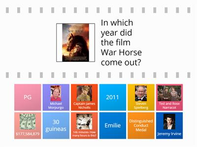 War Horse Quiz Year 7