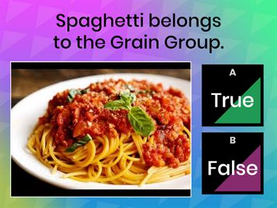 Food Groups - True or False - BL2