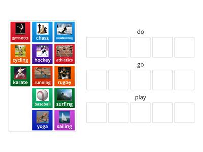 Do/play/go collocations