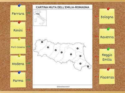 Cartina Muta Emilia Romagna.Geografia Lemilia Romagna Risorse Per L Insegnamento