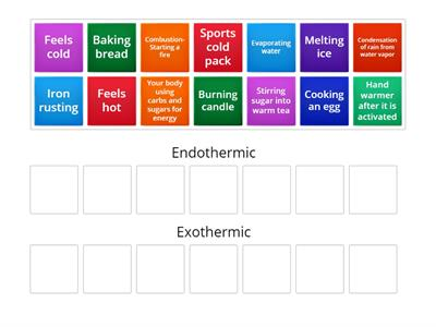 Copy of endothermic or exothermic
