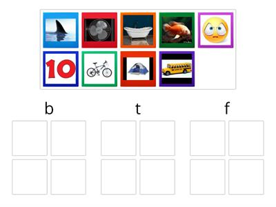 Beginning Sounds Picture Sort f/b/t
