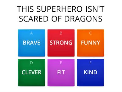 ADJECTIVES AND SUPERHEROES