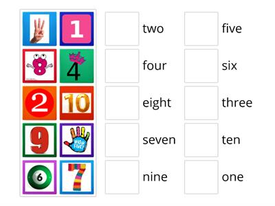 Play in English - BLUE A4 - NUMBERS 1 - 10