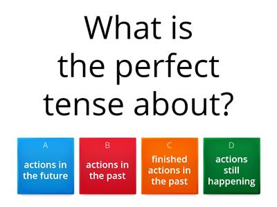 Copy of Haythorne French quiz perfect tense revision
