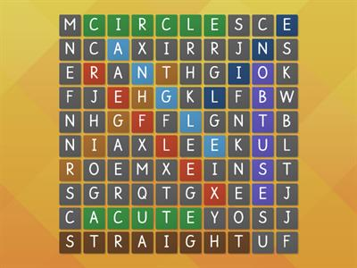 types of angles wordsearch