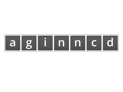 Unit 3 NEA 3 I'm dancing anagram