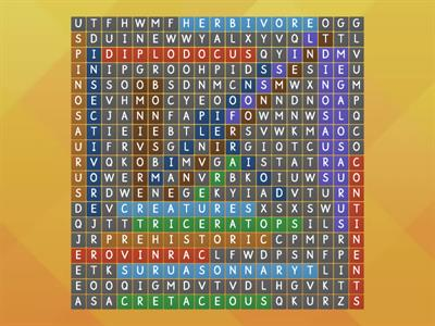Wordsearch dinosaurs