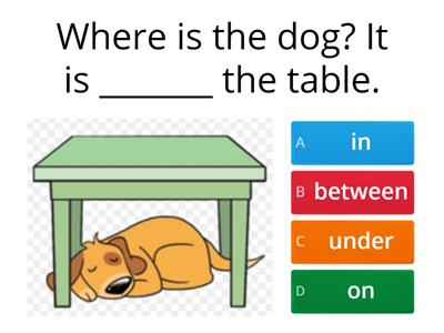Prepositions of place - kids