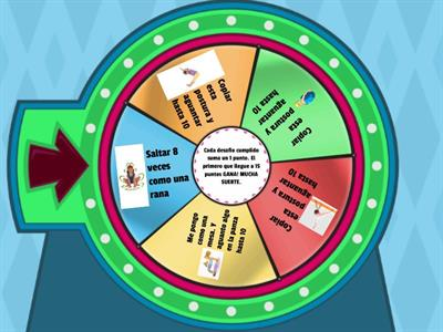 Copy of RULETA! CUMPLI LOS DESAFIOS PARA GANAR!