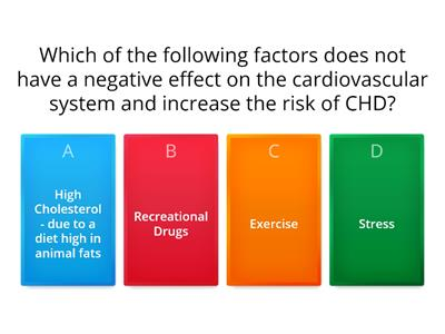 Effects of lifestyle on the CV system starter quiz