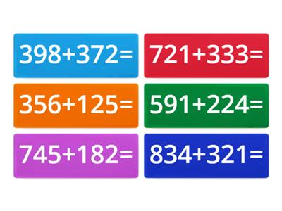 addition of 3 digit numbers