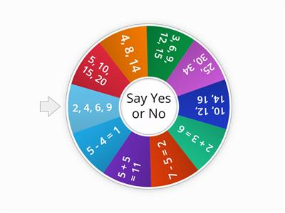 Say Yes or No - Maths skip numbers, addition, subtraction