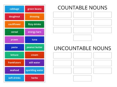 ORÓ - unit 6 countable or uncountable