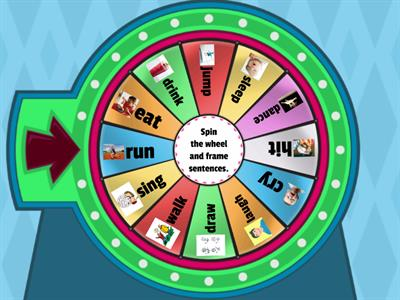 Spin the wheel and frame sentences.