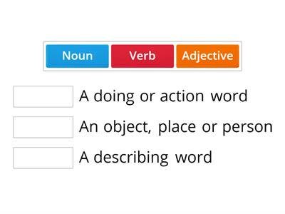 Verb Adjective Noun Match Up