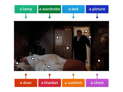 Copy of U4 Vocabulary Rooms&Furniture with Harry Potter (Bedroom)