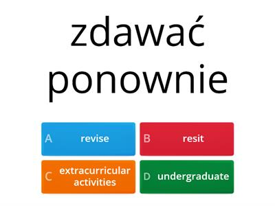 Unit 1 - EDUKACJA - PART B/B - Checkpoint B2 - TEST