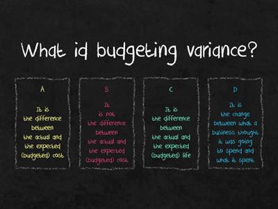 Budgeting Quiz - Elements of Costing-  AAT 2