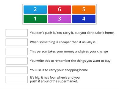 EC A2 shopping expressions - definitions