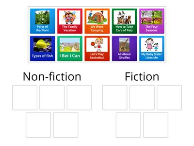 Sorting: Fiction or non-fiction