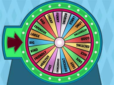 WHEEL DECIDE COMPARISON OF ADJECTIVES