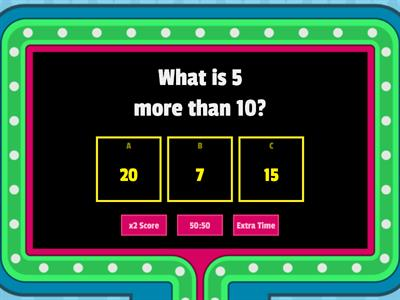 Game Show Quiz Addition Word Equations