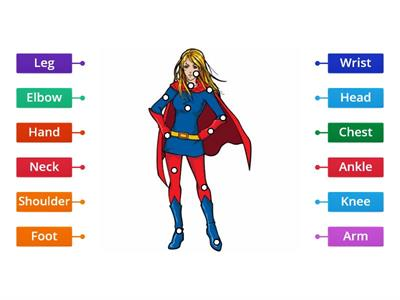 Label superhero (Female) Y1