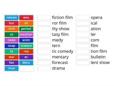 Solutions Pre 3A Film genres