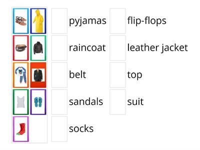 CLOTHES (Evolution Plus, Unit5)