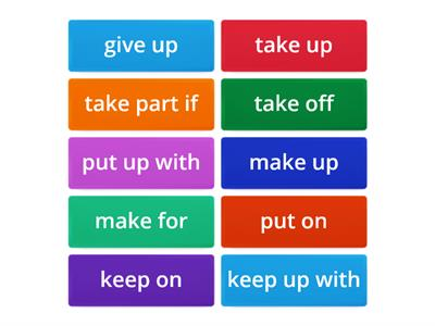 Intermediate Vocabulary - Phrasal Verbs