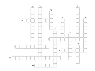 Muscles and movement crossword starter
