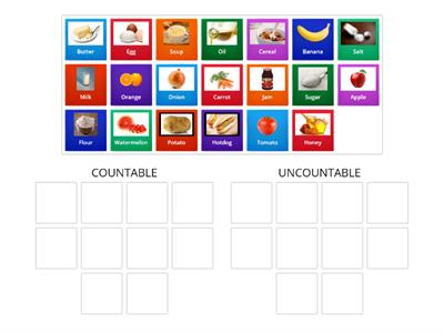 COUNTABLE & UNCOUNTABLE NOUNS YEAR 5&6