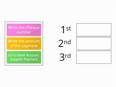 Bank and cash payments' steps- SUPPLIER PAYMENT - Sage 50-AAT level 2