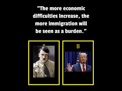 Trump vs Hitler - a comparison of political rhetoric