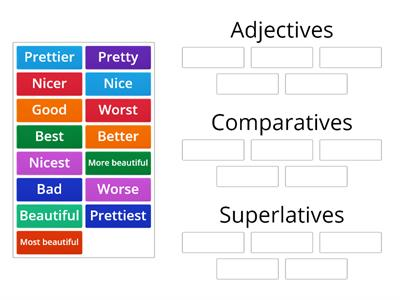 Adjectives, Comparatives, Superlatives segundo primaria
