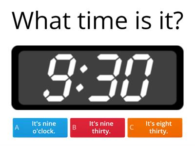 Grade 2 - What time is it?