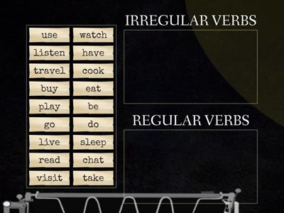 5th -REGULAR AND IRREGULAR VERBS SLIDE