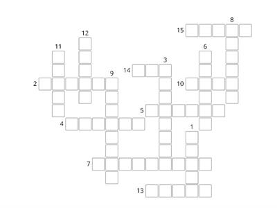 Copia di CLOTHES  CROSSWORD
