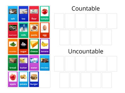 Countable/ uncountable