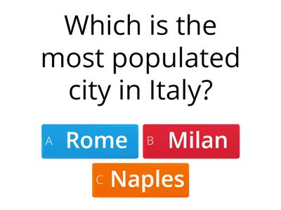 What do you know about Italy?