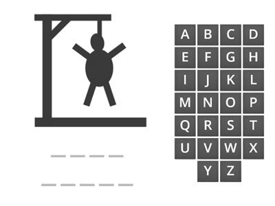 School objects - Hangman