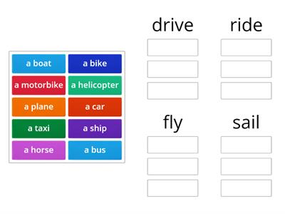 Transport verbs
