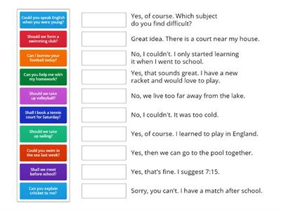 Modal verbs - questions & answers