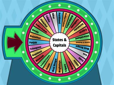 Wheel of States and Capital