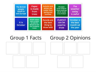 L2: Facts and Opinion